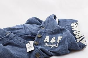 ABERCROMBIE & FITCH WOMEN'S HOODIE SIZE XSMALL NWT BLUE