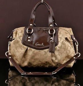 Coach F19242 Ashley Signature Satchel Convertible Handbag shoulder bag