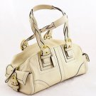 COACH 10048 Soho Mia Braided Satchel White handbag shoulder bag