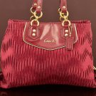 Coach F20050 Ashley gathered Satin carryall handbag Purse