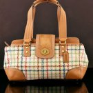COACH F13987 HAMPTONS TATTERSALL SATCHEL HANDBAG PURSE