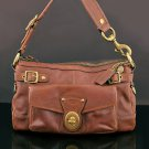COACH 11127 65th anniversary Legacy Stripe Lining Whiskey Purse Bag Handbag