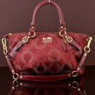 COACH 15935 MADISON SOPHIA OP ART CARRYALL SATCHEL SHOULDER BAG