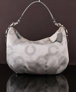 COACH 15929 Madison Dotted Op Art Hobo shoulder bag