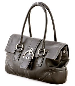 Coach F10913 Soho Leather Flap Satchel shoulder bag