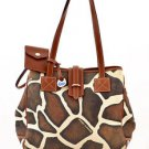 Dooney & Bourke K9096140 Giraffe Print Shoulder Bag Large shopper tote