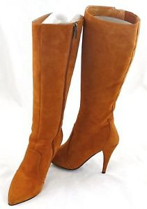 COLIN STUART boots suede heels