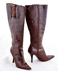 Nine west Blinn distressed leather brown boots sz 5.5
