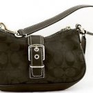 COACH BAG Small Demi Bag Hobo Purse HANDBAG Black E3U-6362