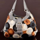 Coach D1082-F15198 Soho Scarf Print Op Art Hobo Shoulder Bag  purse