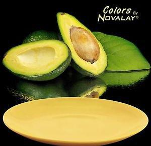Dinnerware 4 ceramic Dinner plates, MATTE pastel yellow. kitchen plates