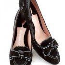 ENZO ANGIOLINI black suede classic heels shoes size 6.5M