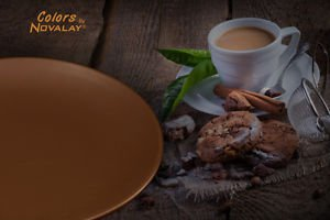 DINNERWARE FOUR ceramic dinner plates multi-color matte CERAMIC KITCHEN PLATES
