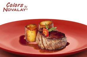 DINNERWARE 4 ceramic dinner plates mixed color matte. Kitchen plates