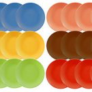 DINNERWARE 24 Ceramic Dinner plates, solid color, CERAMIC, 6 colors
