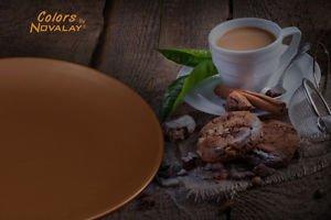 DINNERWARE 4 ceramic dinner plates mixed color matte, stoneware! Kitchen plates