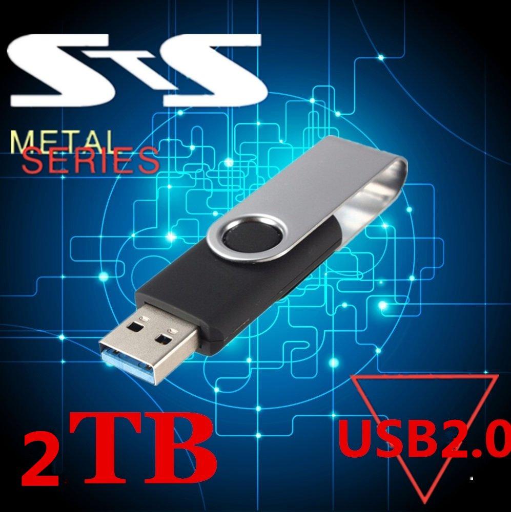 USB 2.0 2TB Flash Pen Drive Falten Lagerung U Disk schlüssel Swivel Speicher  Memory Stick