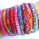 10 Friendship bracelet, bracelet set, Tie dye bracelets, boho bracelets