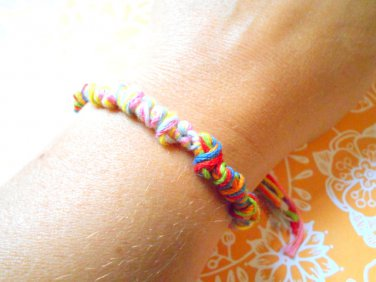 Colorful knotted friendship bracelet, friendship bracelet handmade
