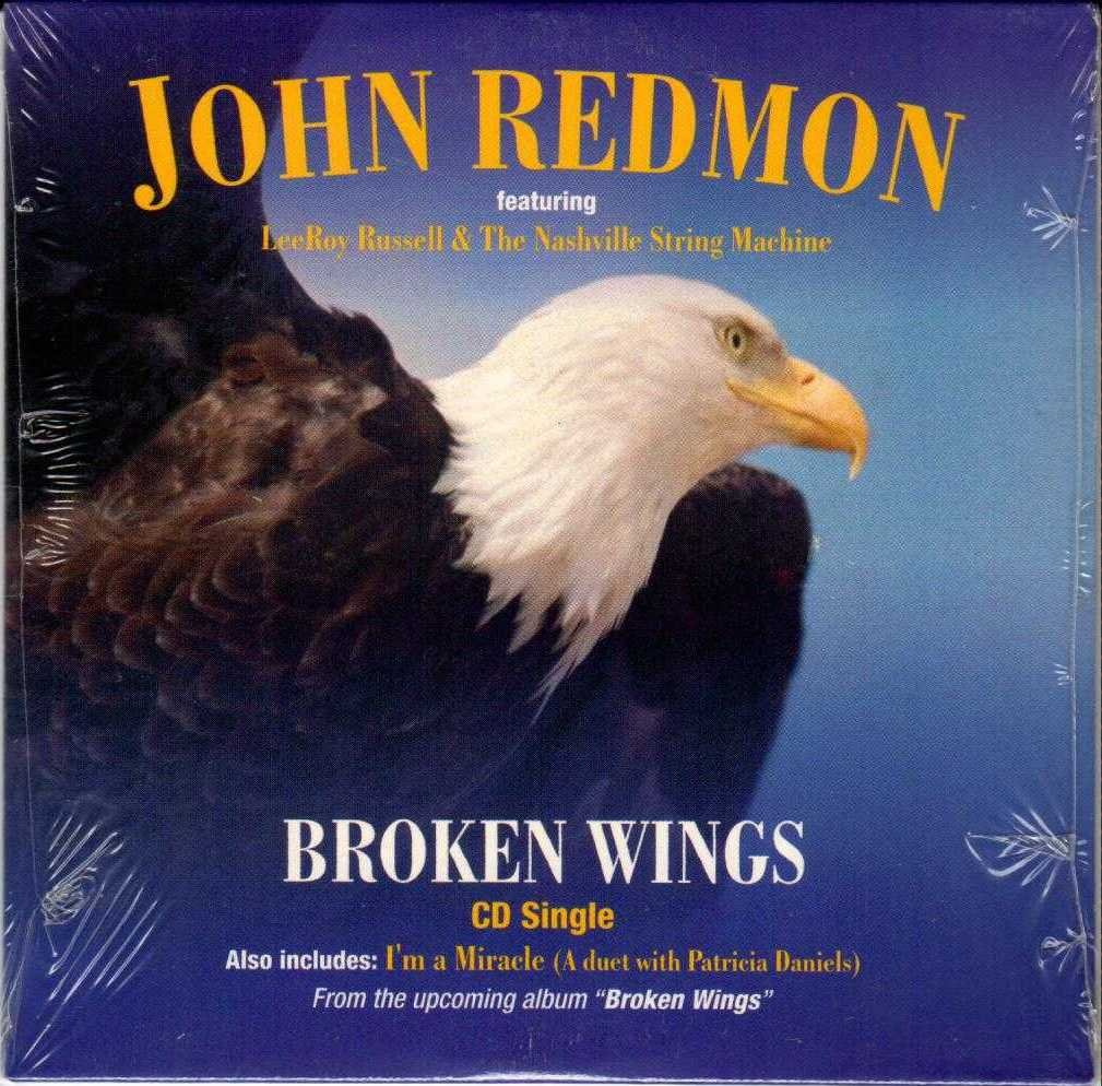 JOHN REDMON Broken Wings 2002 US 2 Track CD Single