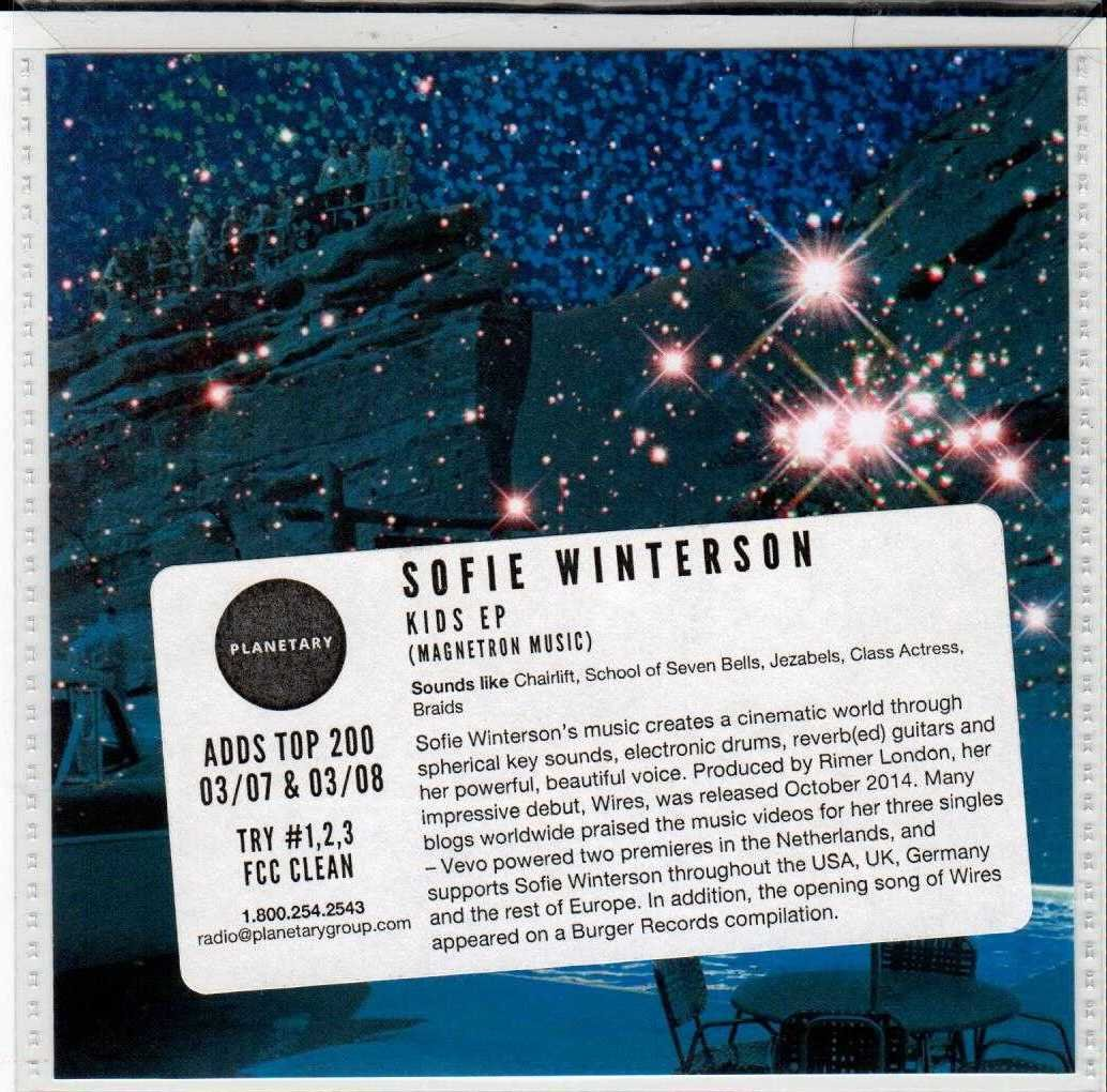 SOFIE WINTERSON Kids EP 2016 US 3 Track Promotional CD EP