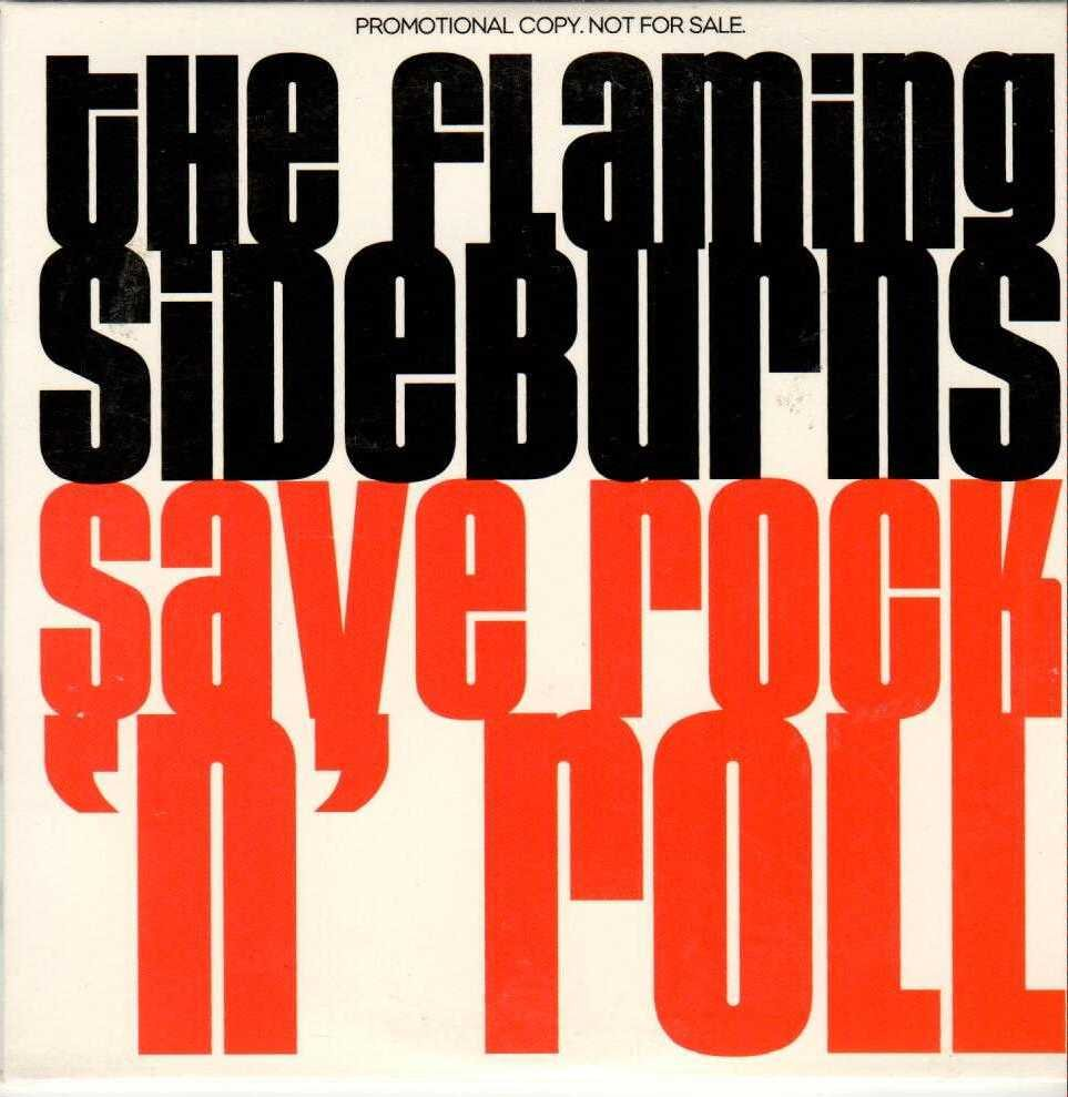 THE FLAMING SIDEBURNS Save Rock 'N' Roll 2002 US 11 Track Promotional CD Album