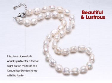 Daimi Genuine Baroque Pearl Necklace, Trendy Necklace For Everyday, New Bijouterie Fine Jewelry