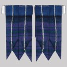 Brand New Pride of Scotland Tartan Kilt Flashes Garters with Heavy Buckle
