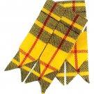 Men's Kilt Hose Sock Flashes McLeod of Lewis Tartan Kilt Hose Socks Flashes Garters