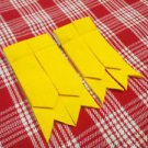 New Kilt Hose Flashes Yellow Tartan Kilt Flashes Garters