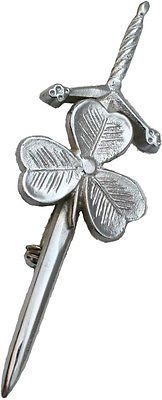 Shamrock Irish Kilt Pin, Sporrans Hoses Kilts Accessory