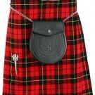 Mens Kilt Wallace Tartan Traditional Highland Dress Skirt Waist 34 Inches Highland 8 Yard Kilt