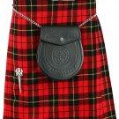 Mens Kilt Wallace Tartan Traditional Highland Dress Skirt Waist 46 Inches Highland 8 Yard Kilt