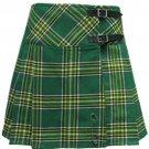 Ladies Irish Heritage Tartan Scottish Mini Billie Kilt Mod Skirt Custom Size
