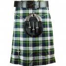 Scottish Dress Gordon Tartan 5 Yard Kilt Highland Active Men Sports Kilt Size 30