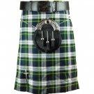 Scottish Dress Gordon Tartan 5 Yard Kilt Highland Active Men Sports Kilt  Size 38