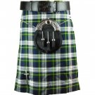 Scottish Dress Gordon Tartan 5 Yard Kilt Highland Active Men Sports Kilt Size 42