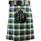 Scottish Dress Gordon Tartan 5 Yard Kilt Highland Active Men Sports Kilt Size 46
