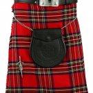 Scottish Traditional Kilt Royal Stewart Tartan Waist 32 Inches Size Highland 5 Yard Tartan Skirt