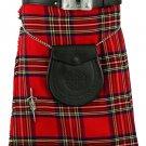 Traditional Royal Stewart Tartan Kilts Scottish Highland 8 Yard Kilt Fit To 34 Inches Waist