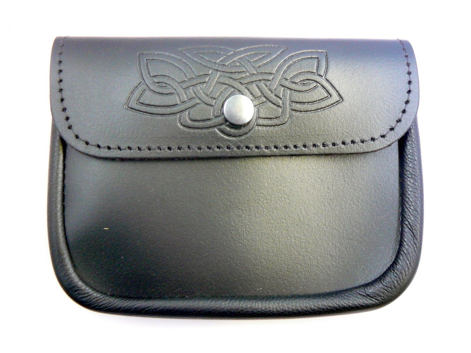 BAGPIPER'S Embossed LEATHER Black POUCH