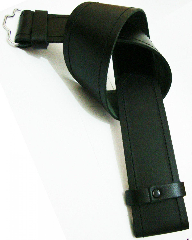 Men's BLACK EMBOSSED Size 42 SIMPLE KILT LEATHER BELT