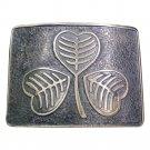 KILT BELT BUCKLE for leather belt DE Original Silver Chrome Scottish Steel Made