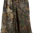 Waist 32 Real Tree Camo Tactical Duty Utility Kilt Cotton Kilt With Cargo Pockets