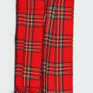 Royal Stewart Tartan Piper Plaid Pleated. 8oz.