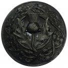 "Celtic Brooch  3""/Kilt Fly Plaid Pin Brooch Thistle Crest Emblem"
