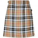 Size 42 New Scottish Highland Traditional Camel Thompson Tartan Casual Sport Kilt