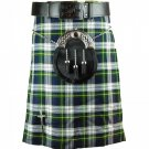 Traditional Highland Scottish Dress Gordon 8 Yard Tartan kilt 32 Inches Waist Size Skirt