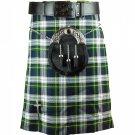 Traditional Highland Scottish Dress Gordon 8 Yard Tartan kilt 36 Inches Waist Size Skirt