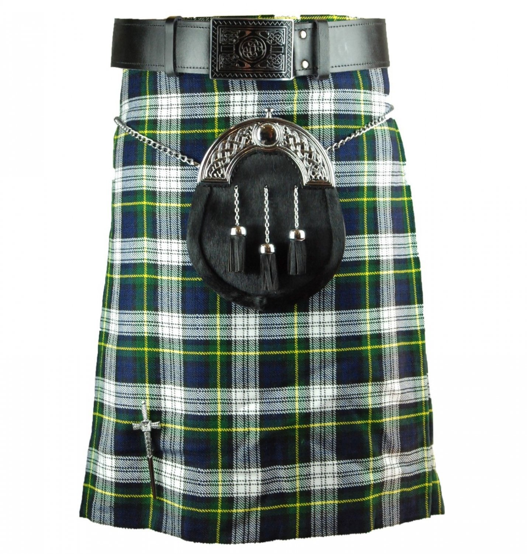 Traditional Highland Scottish Dress Gordon 8 Yard Tartan kilt 40 Inches Waist Size Skirt